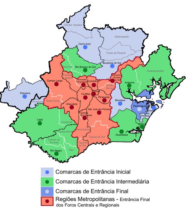 Comarcas do Paraná - Mesorregião Metropolitana de Curitiba