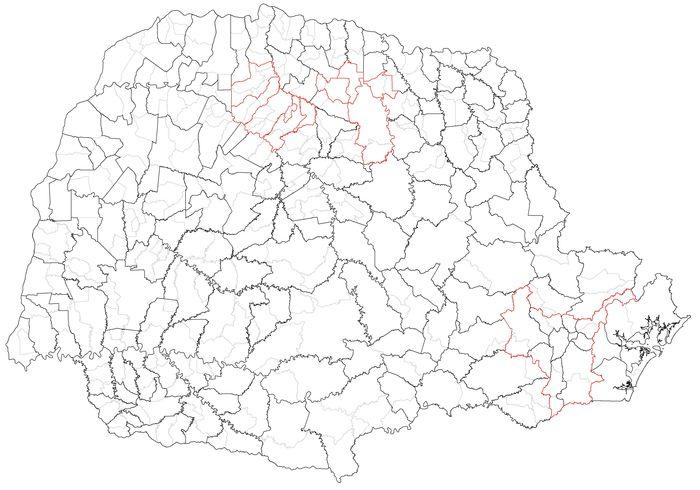 Mapa Paran� - Comarcas (destaque chamada)