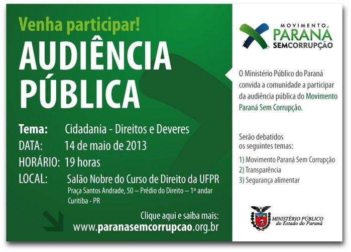 Audiência Pública - 14/05/13